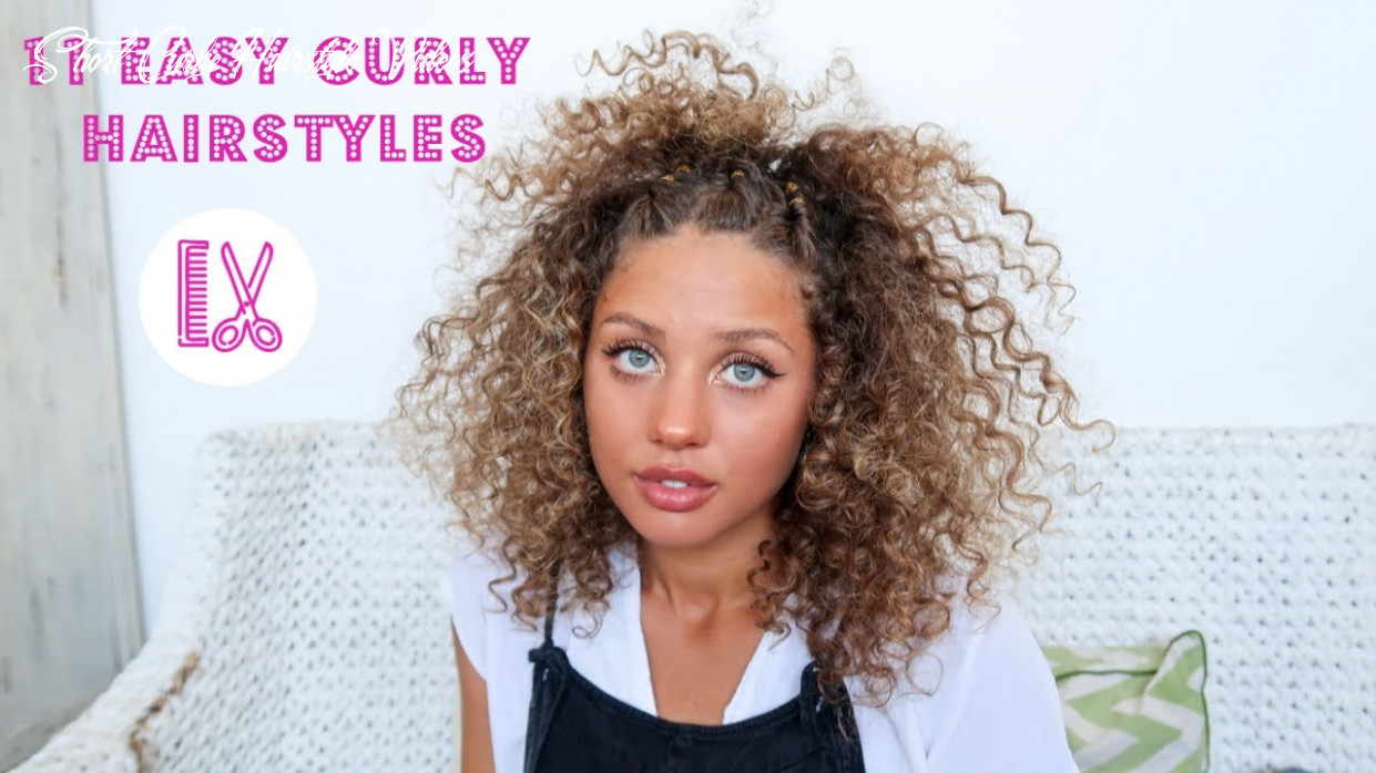 12 easy curly hairstyles for short curly hair short curly hairstyle videos