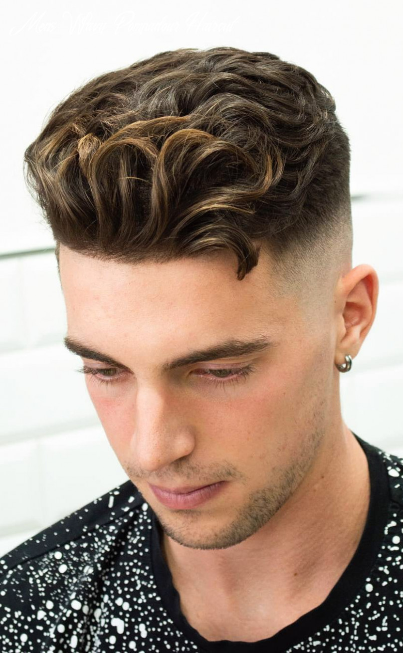 12 haircuts for men with thick hair (high volume) mens wavy pompadour haircut