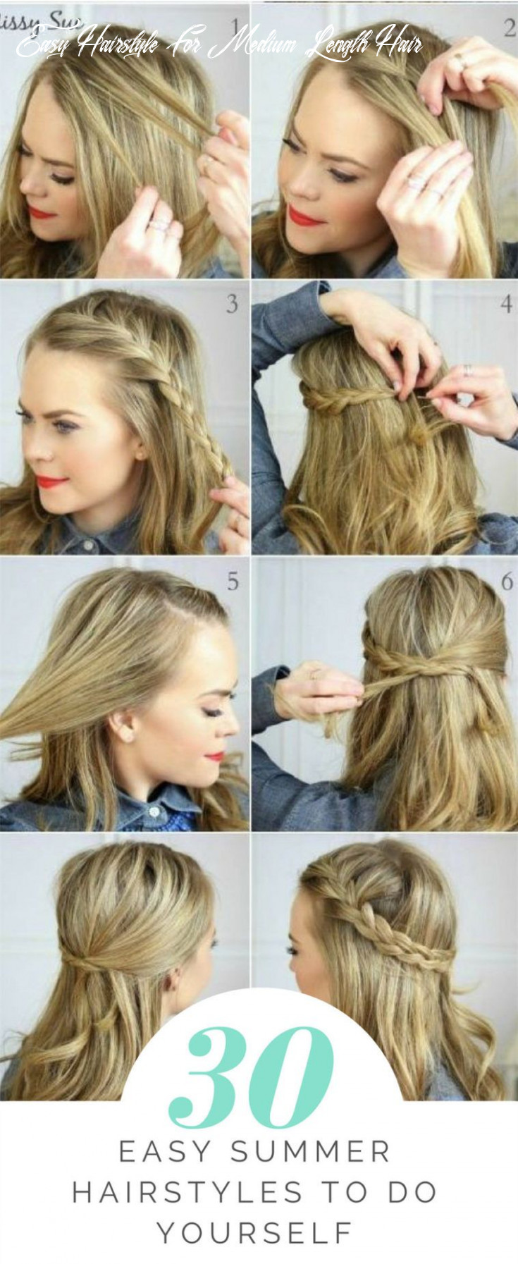 8 easy summer hairstyles to do yourself   cute everyday
