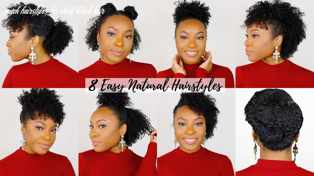 8 quick & easy hairstyles for short/medium natural hair | perfect for type 8 hair!! quick hairstyles for short black hair