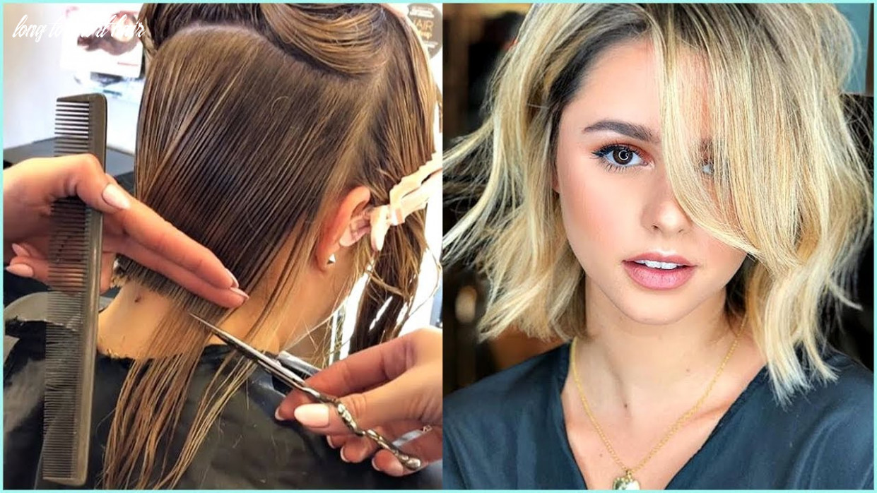 8 trendy before and after transformations from long hair to short hair ♥️ short haircuts ideas long to short hair