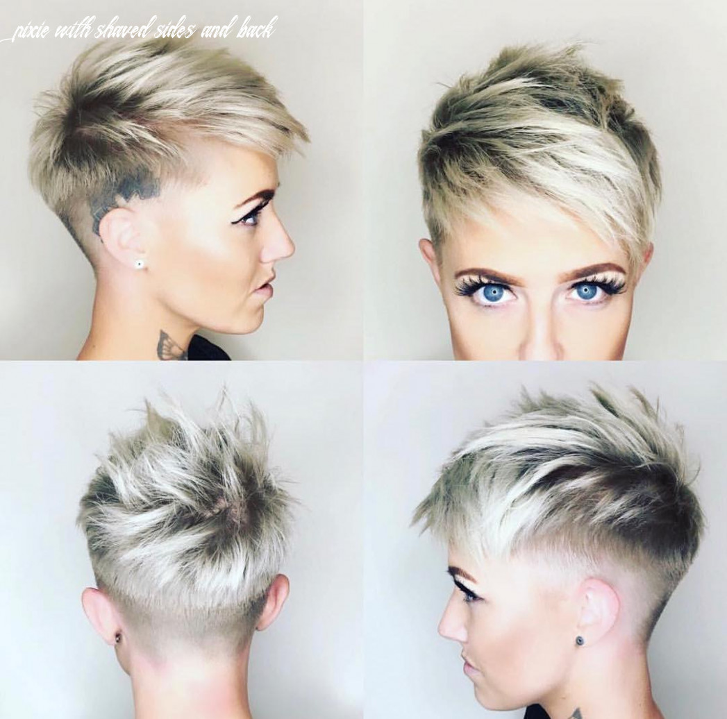 9 chic shaved haircuts for short hair 9 pixie with shaved sides and back
