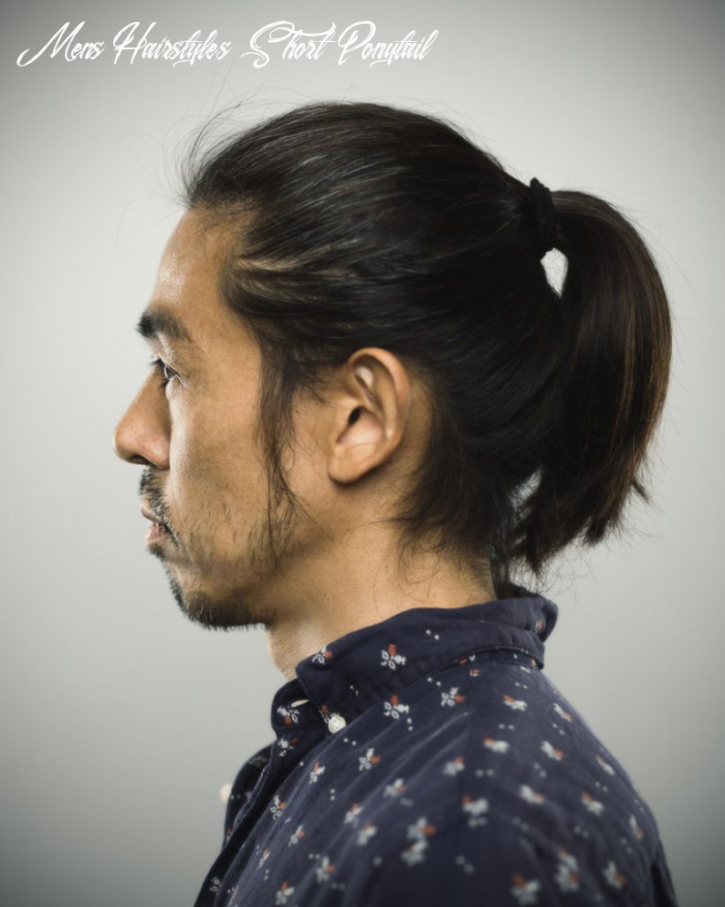 9 cool ponytails for men in 9 mens hairstyles short ponytail