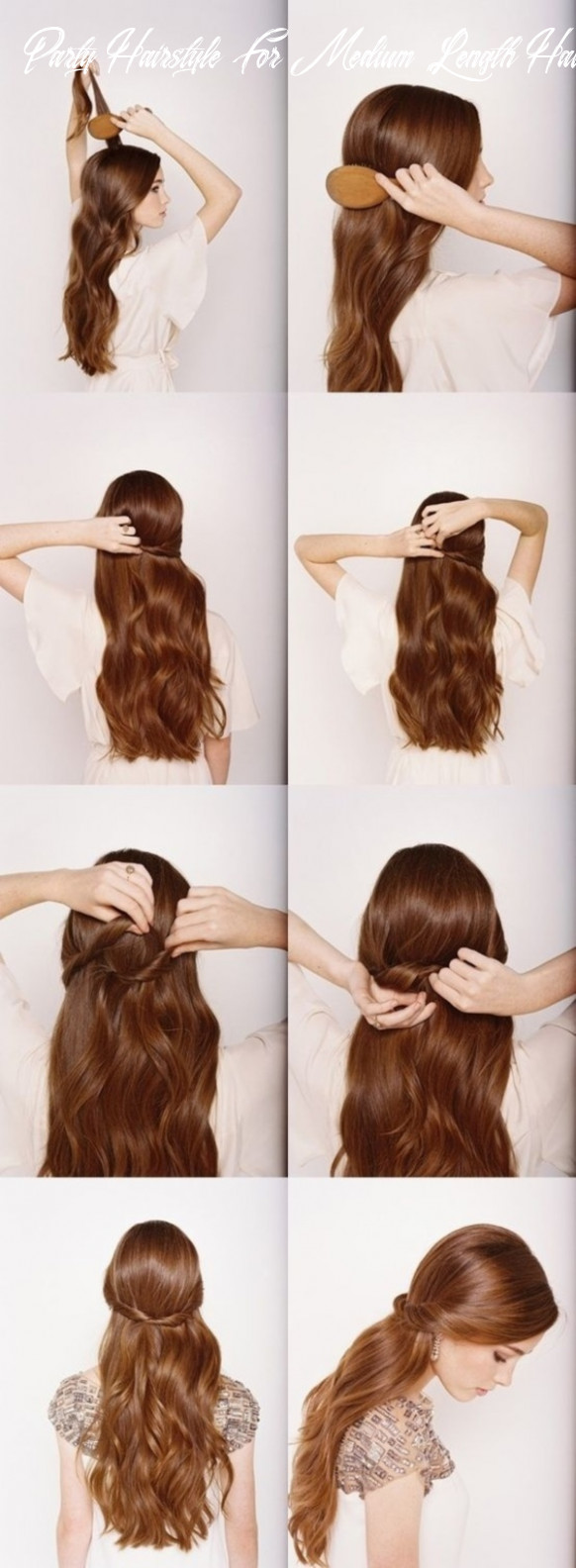 9 easy diy hairstyles for medium and long hair to snatch attention party hairstyle for medium length hair