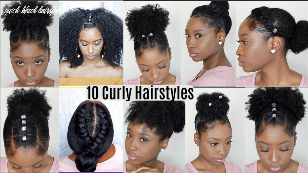9 quick easy hairstyles for natural curly hair   instagram inspired hairstyles quick black hairstyles