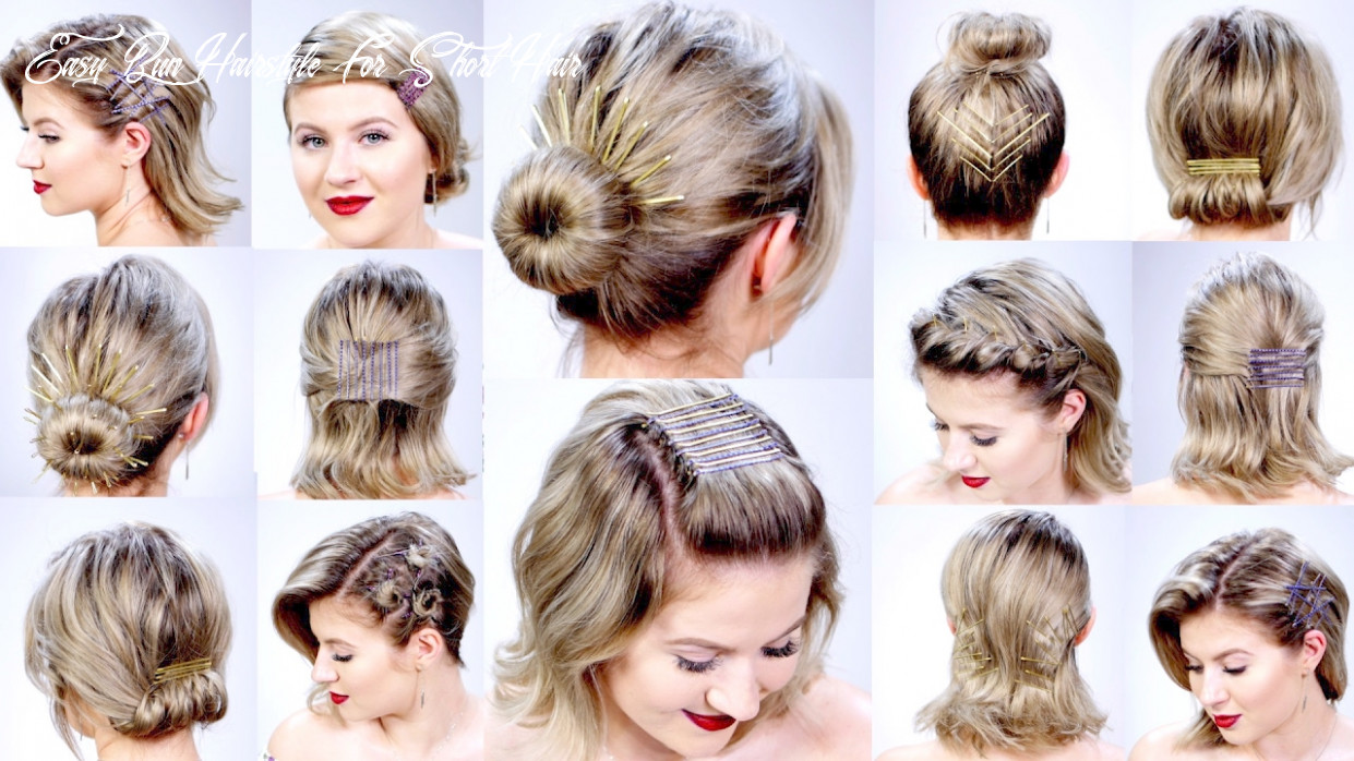 9 super easy hairstyles with bobby pins for short hair   milabu easy bun hairstyle for short hair
