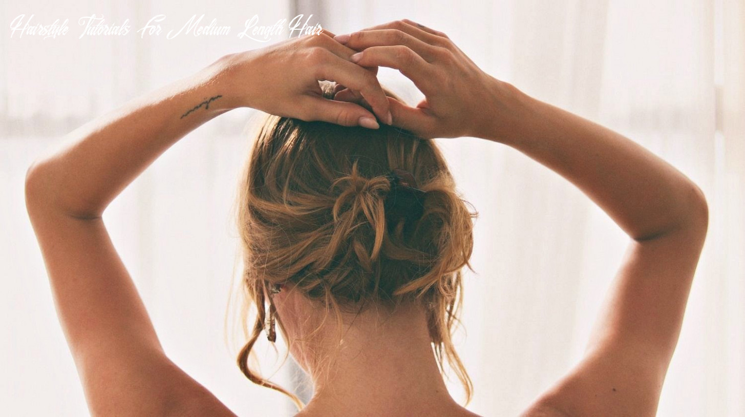 Beautiful updo hairstyles are easy to achieve with basic steps hairstyle tutorials for medium length hair