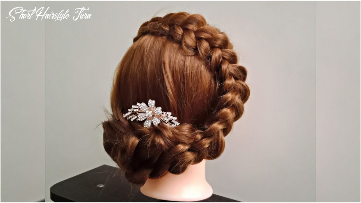 Braided updo tutorial ? step by step easy hairstyle for girls short hairstyle jura