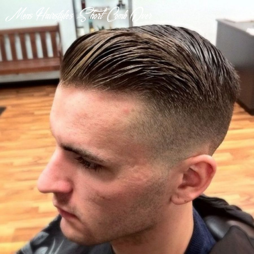 Comb back hairstyle men short hairstyles combed back hair photo