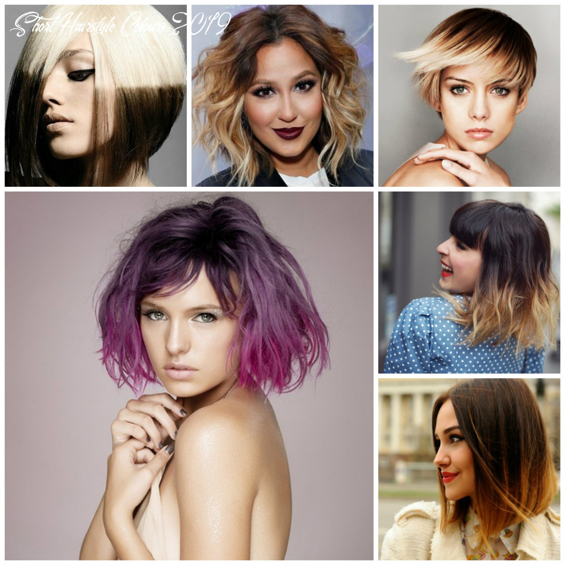 Contoh fasion 10: trend hair color 10 for short hair short hairstyle colours 2019