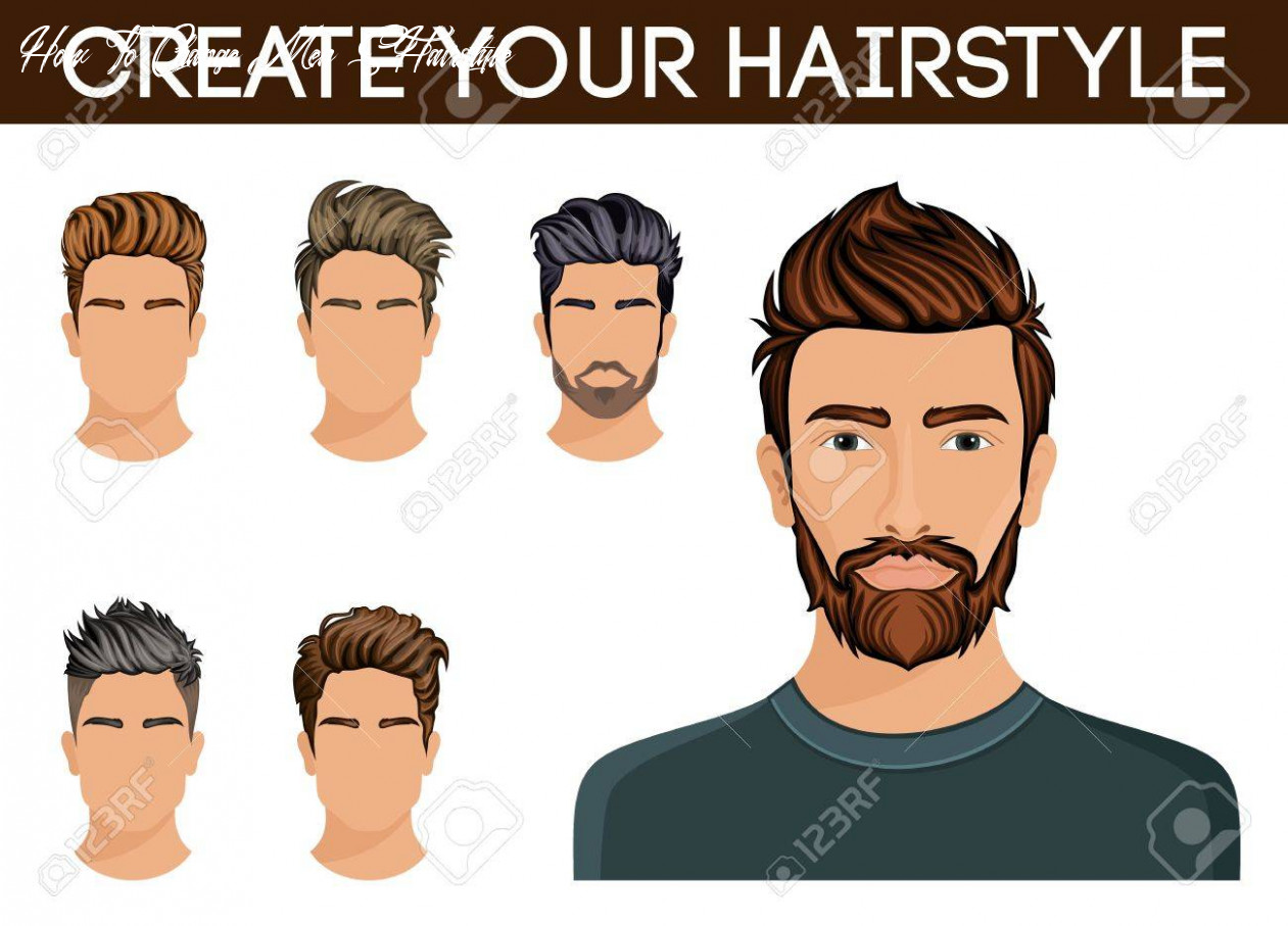 Create, change of hairstyle choices men hair style symbol hipster