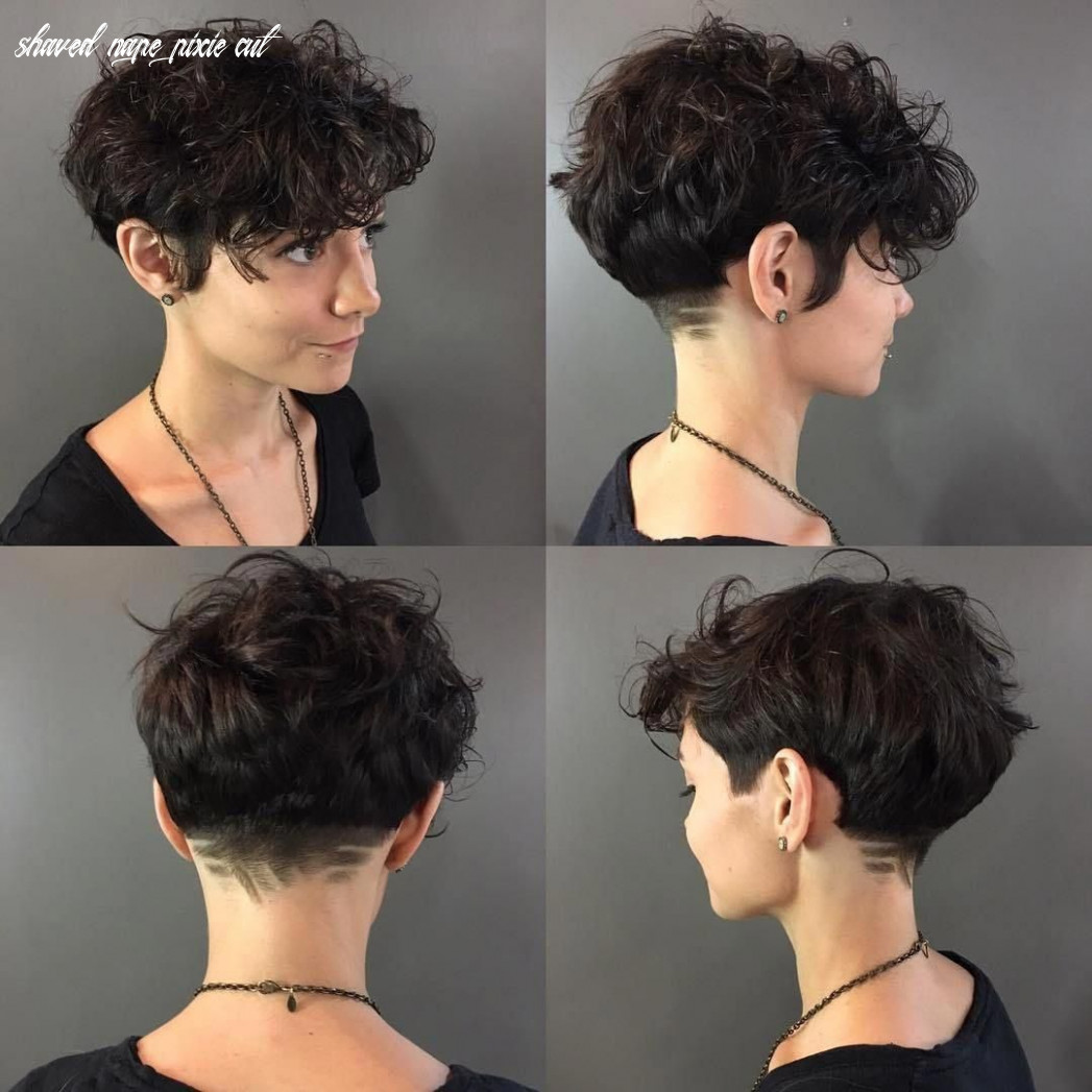 Curly pixie with shaved nape #curlyhaircut (with images)   short