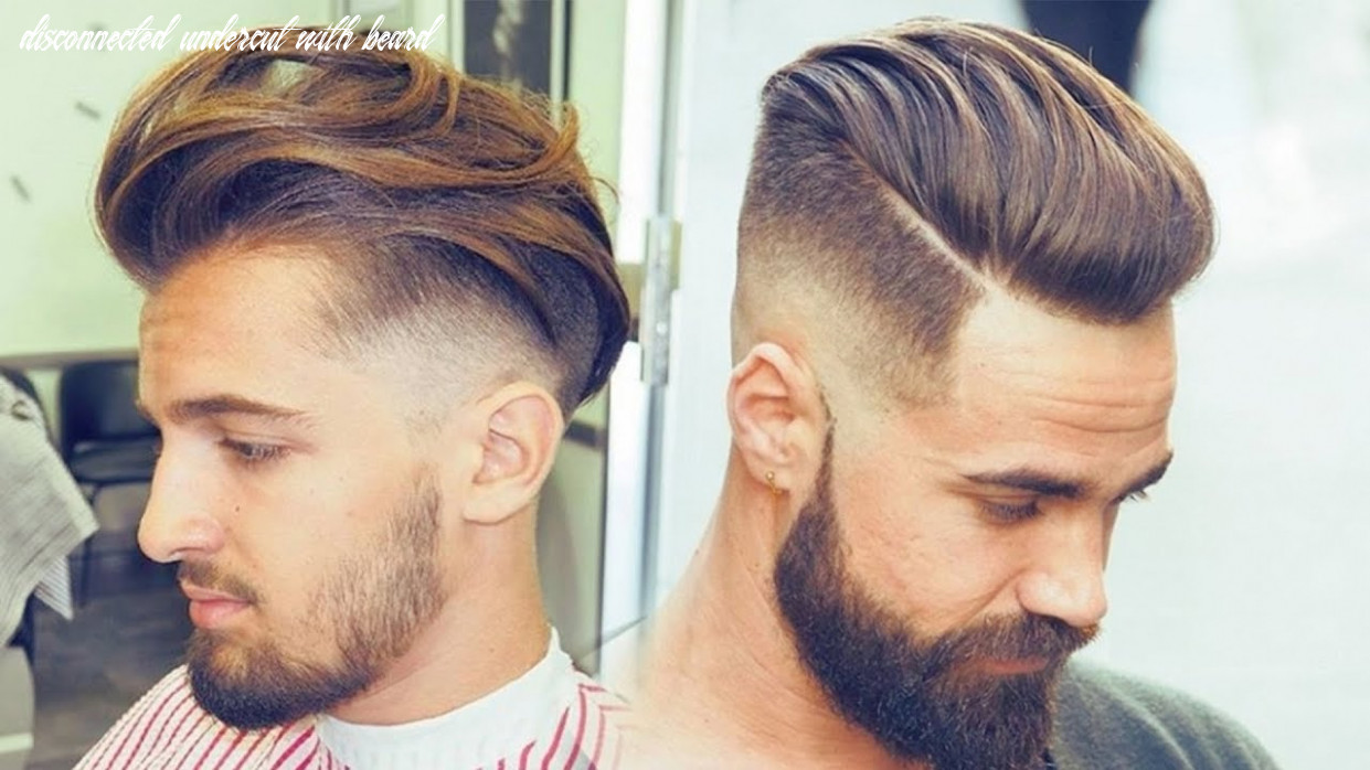 Disconnected undercut haircut and style   hair transformation   disconnected undercut with beard