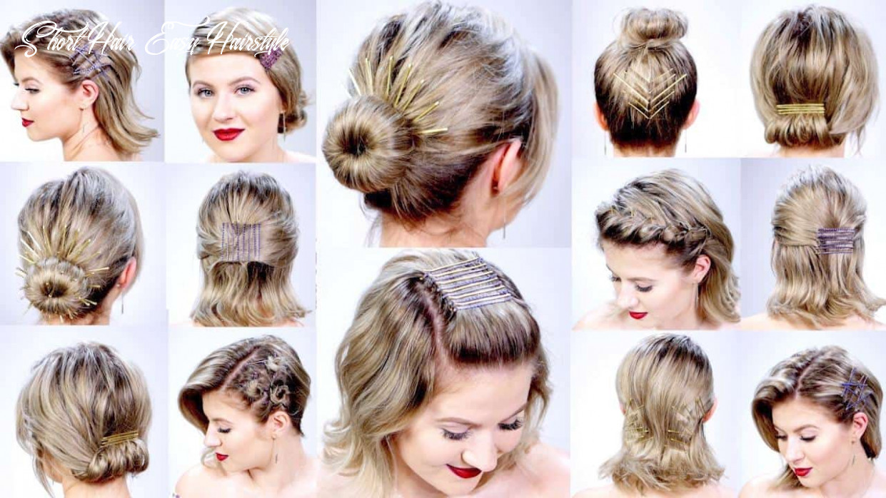 Fast easy hairstyles for short hair hairstyles for women short hair easy hairstyle