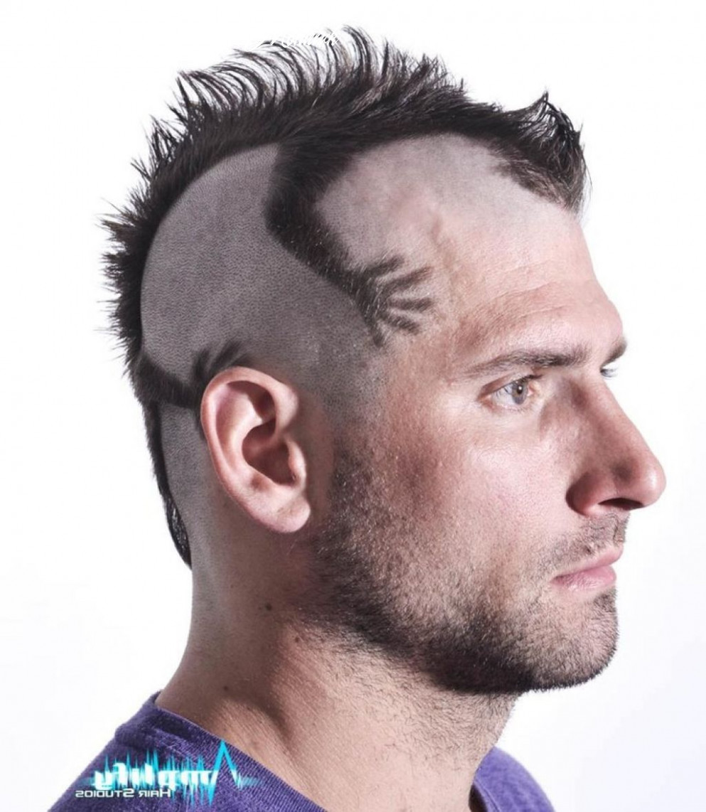 Funky mens mohawk haircut style – men hairstyle trend | mohawk