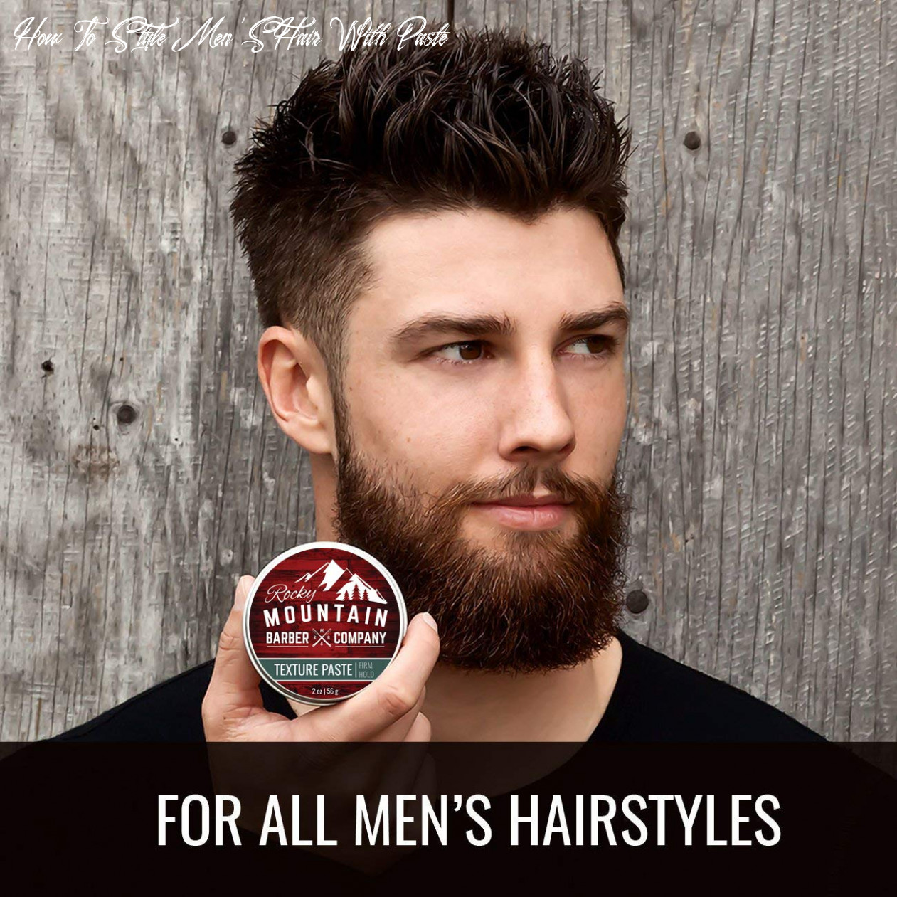 Hair paste for men hair styling cream with pliable light firm