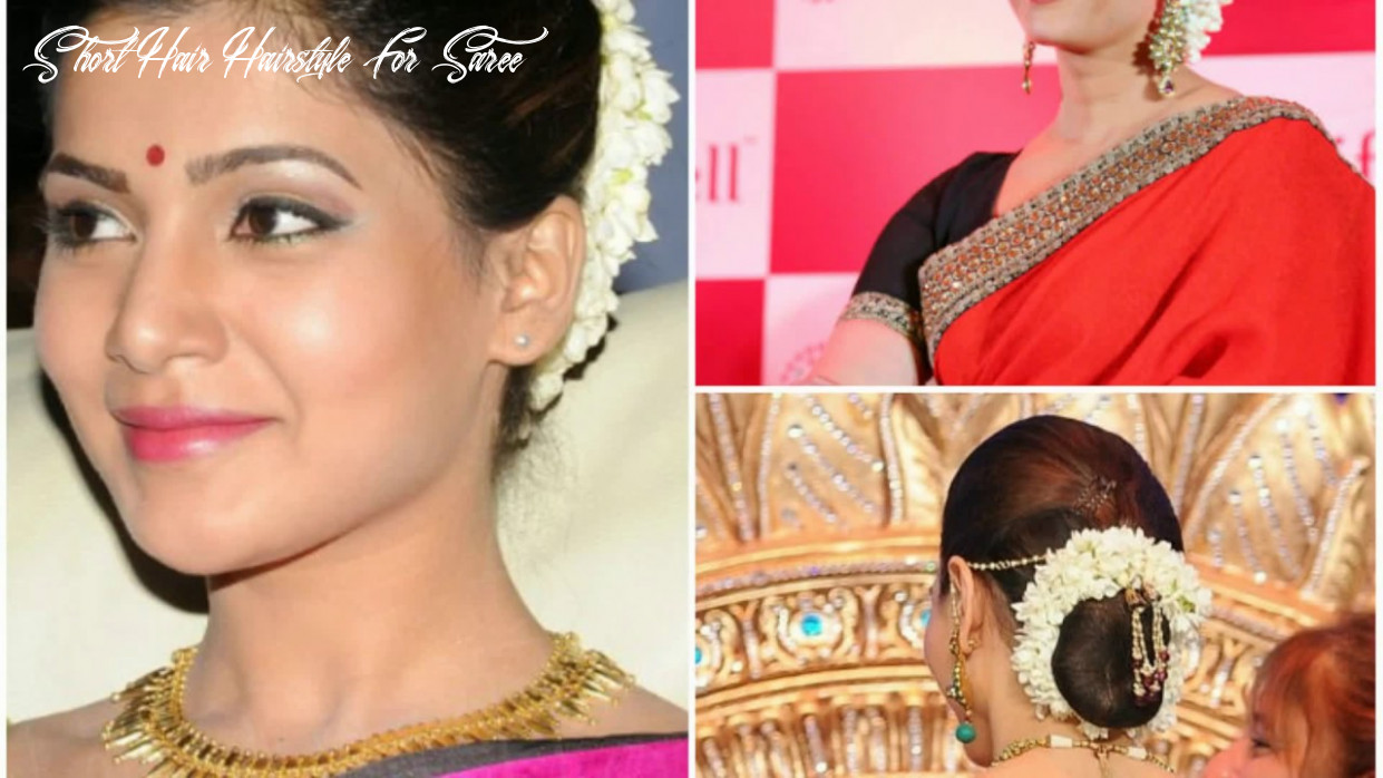 Hairstyle for short hair on saree youtube short hair hairstyle for saree