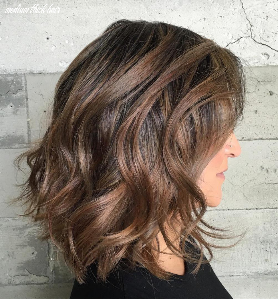 Hairstyles and haircuts for thick hair in 10 — therighthairstyles medium thick hair