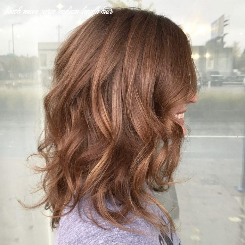 Hairstyles:beach wave perm medium hair before and after chic
