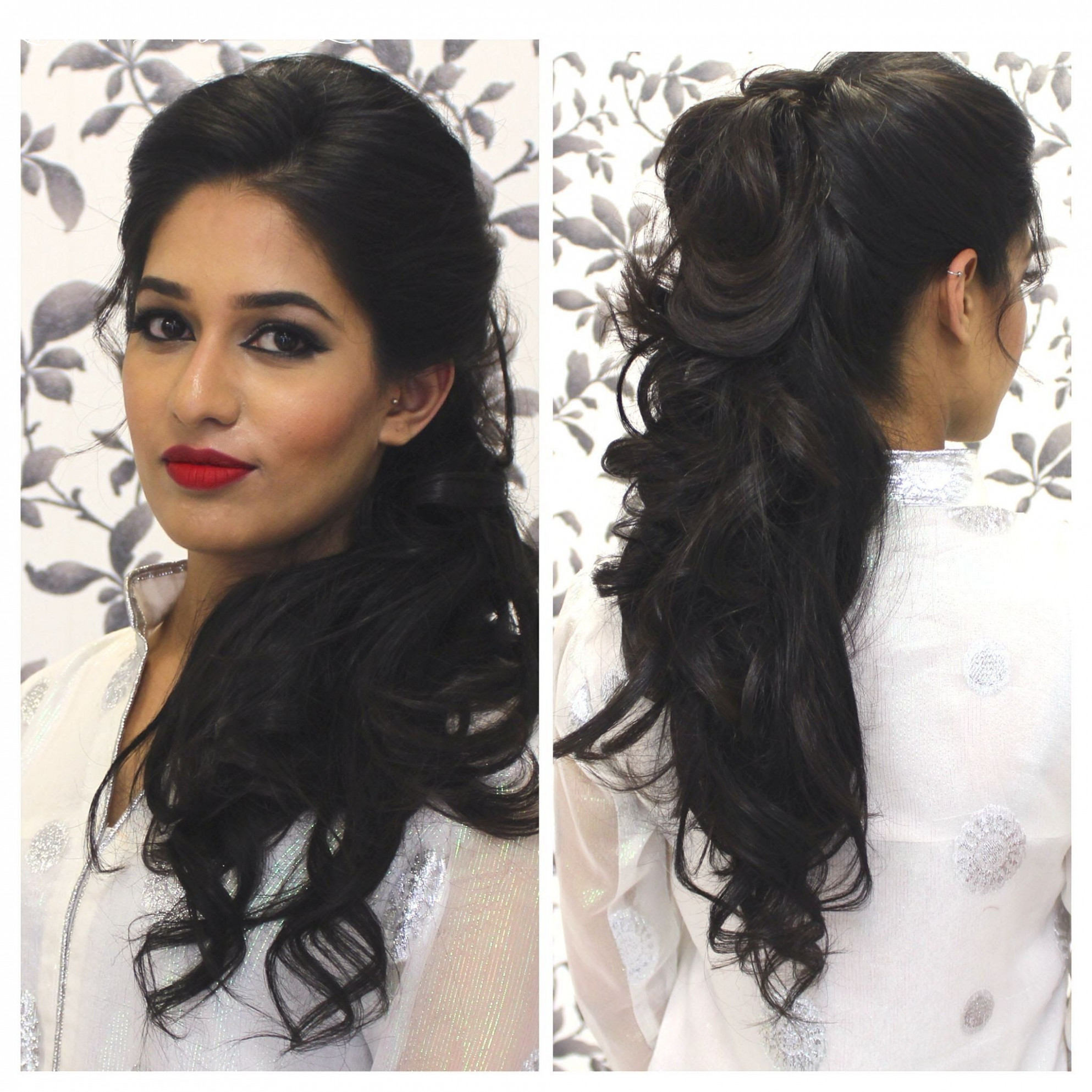 Hairstyles for curly hair indian   indian party hairstyles, medium