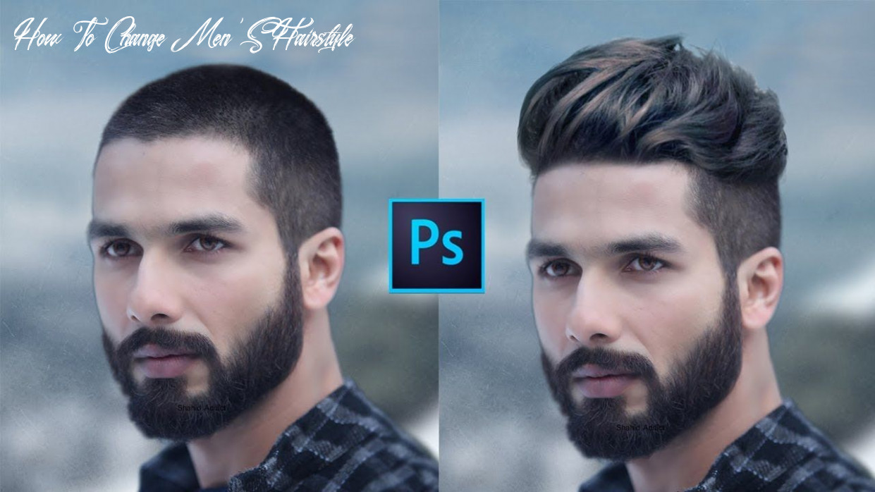 How to change hair style | in short hair head men photoshop