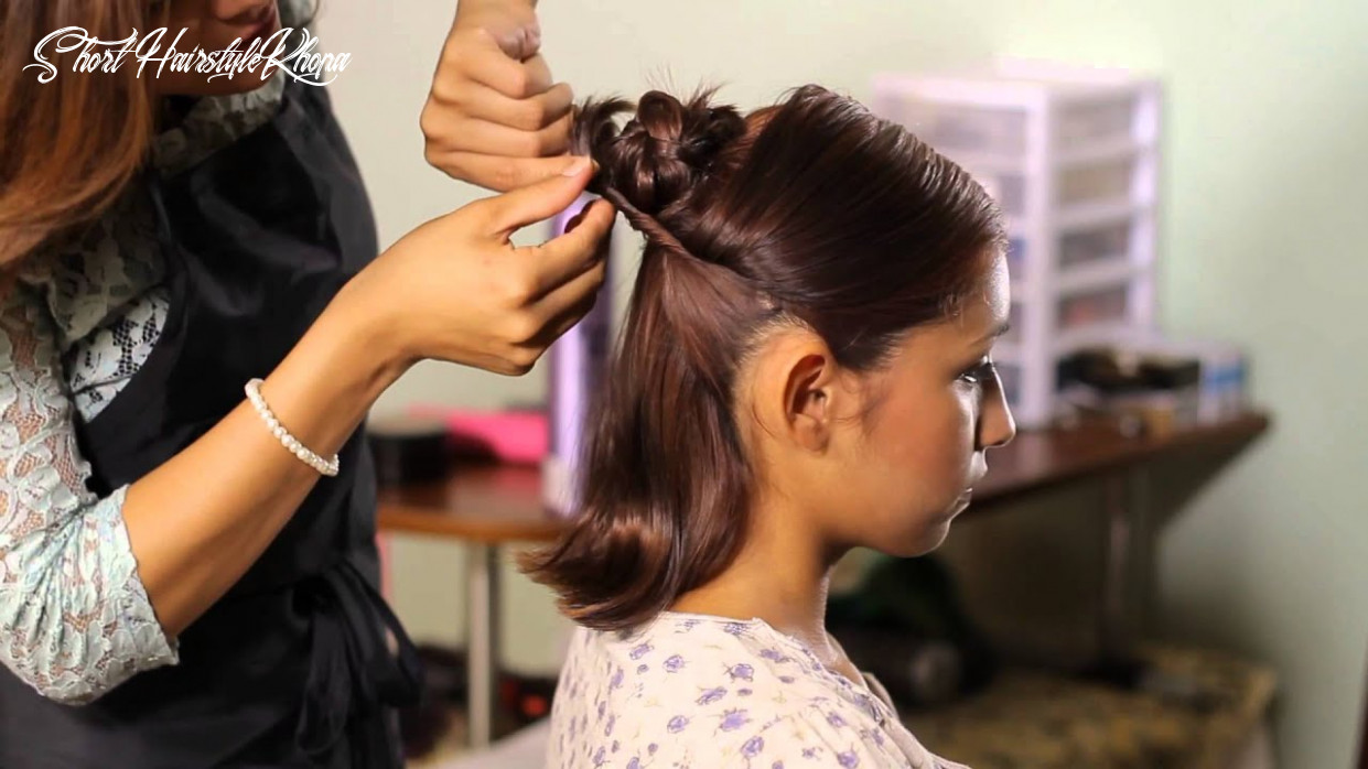 How to make a bun with short hair : tress to impress short hairstyle khopa