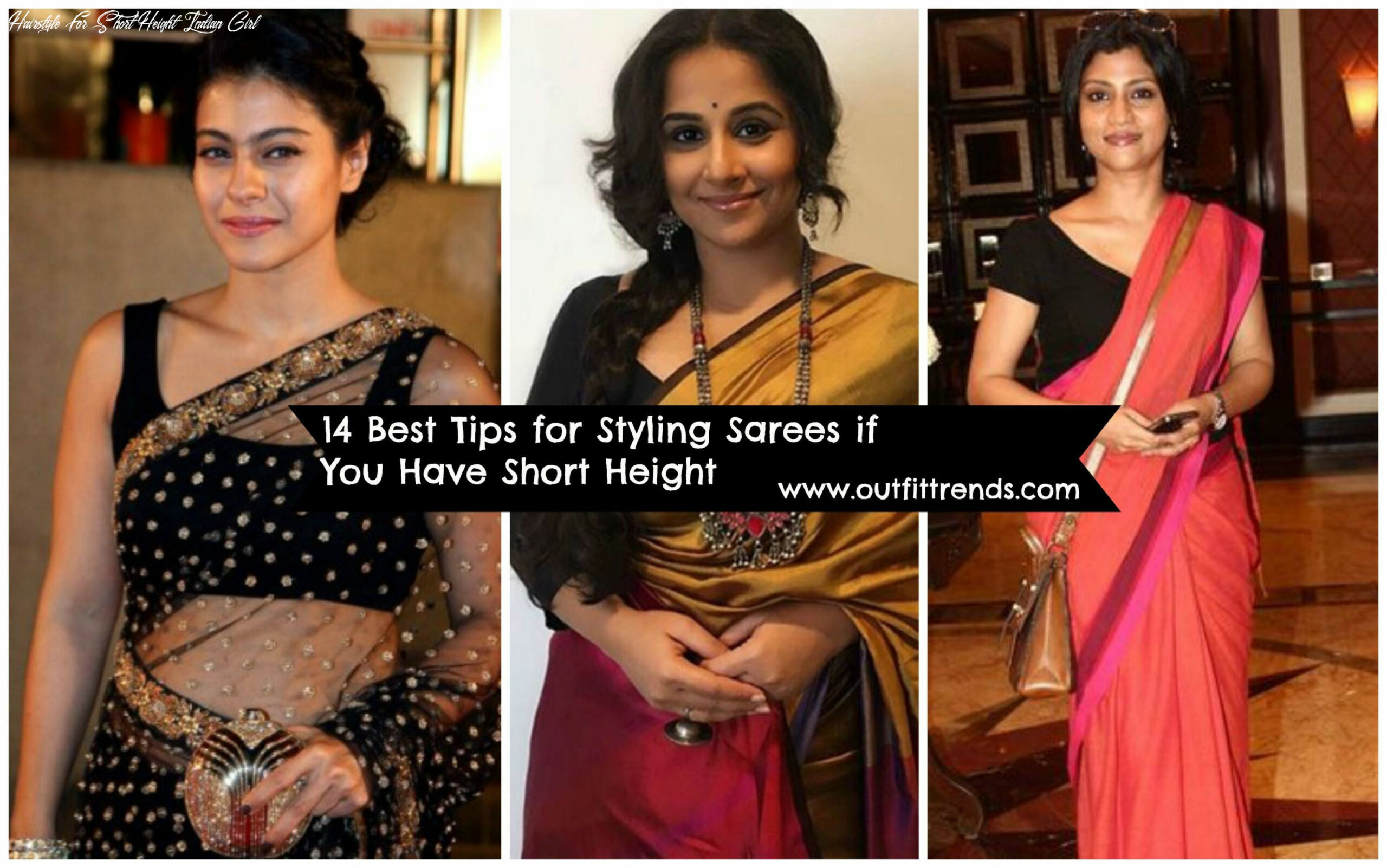 How to wear saree for short height? 8 pro tips for short girls