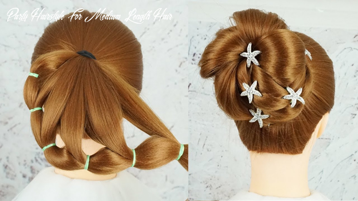 Latest hairstyle for wedding reception party hairstyles medium length hair   braid hairstyles 9 party hairstyle for medium length hair