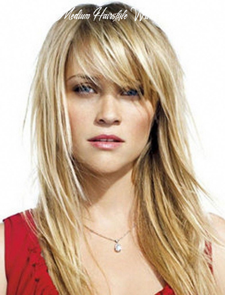 Medium hairstyles with bangs for women over 8 with fine hair