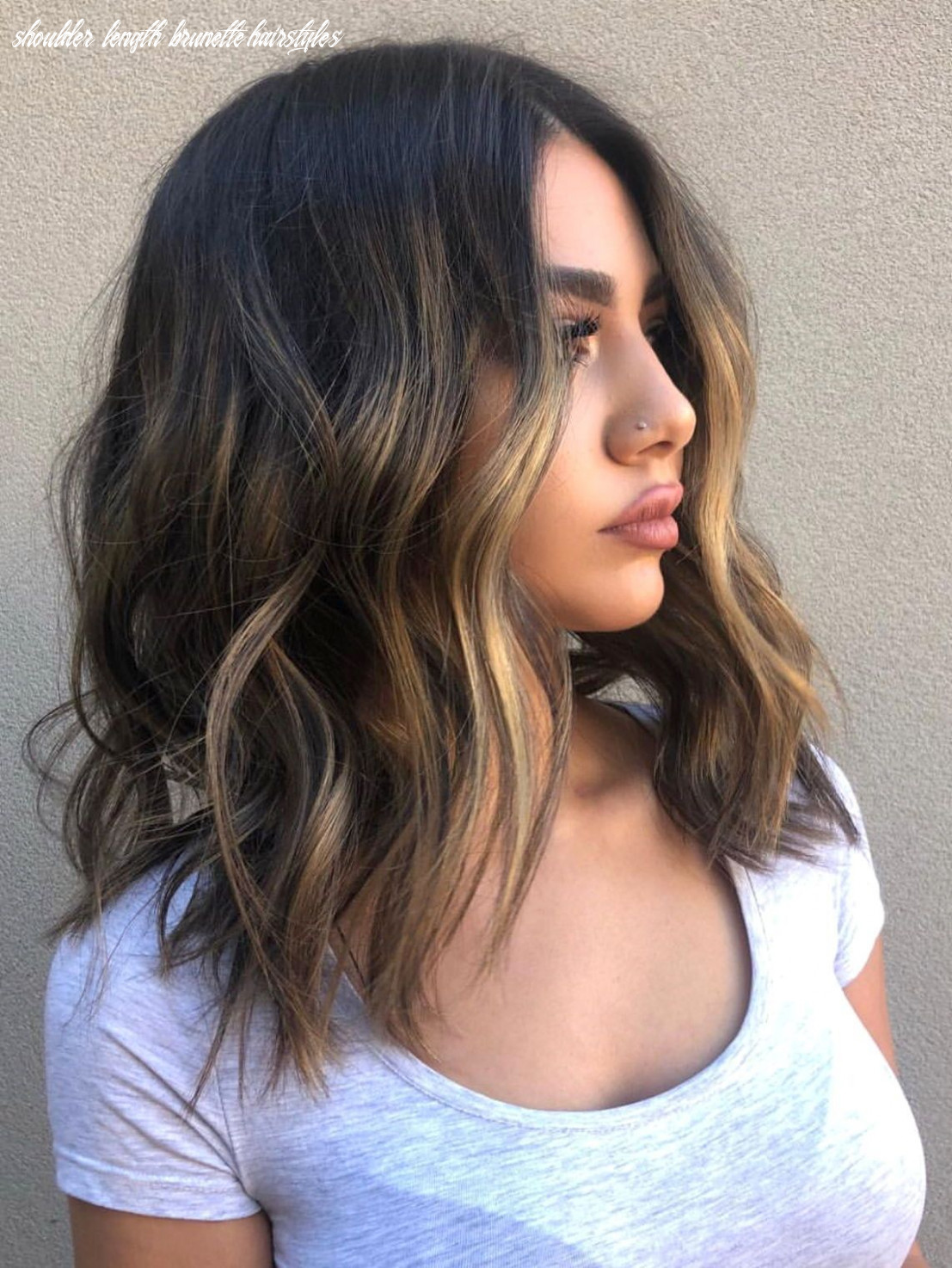 Medium length hair with waves and texture #hairstyles   frisuren