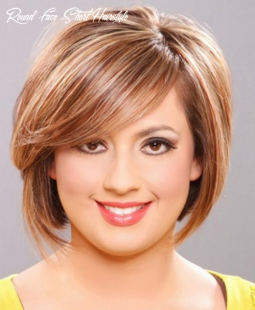 Medium short hairstyles for women with a fat or round face