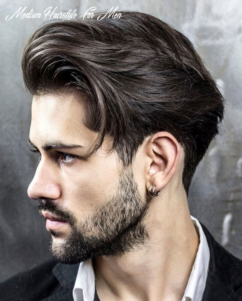 Mens medium hairstyles try something cool with medium length