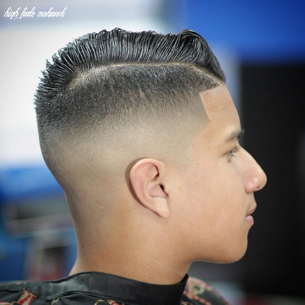 Mohawk fade hairstyle hairstyles and haircuts high fade mohawk
