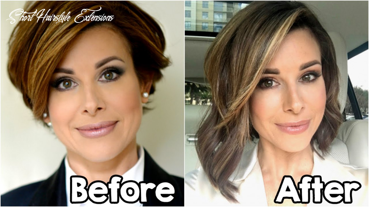 My new hair extensions | short to long bob short hairstyle extensions