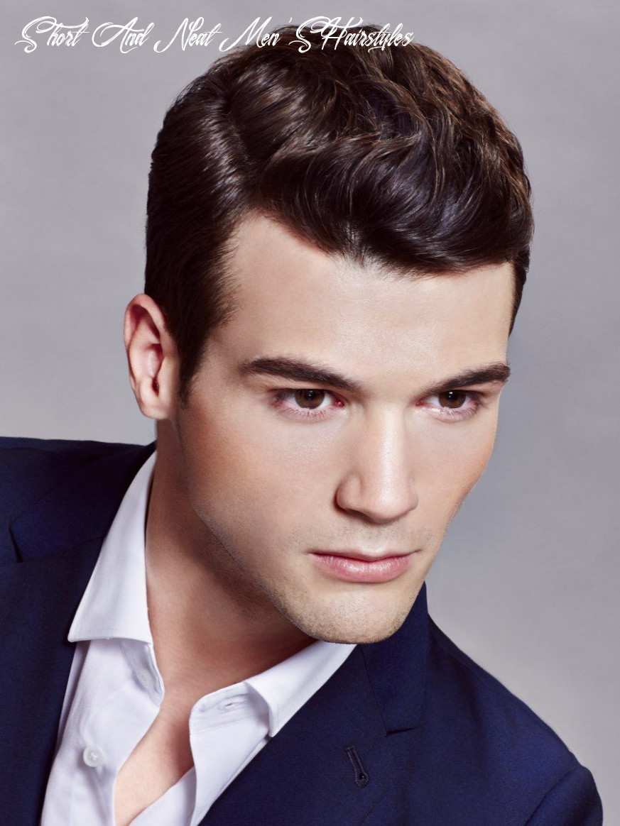 Neat short and slicked back haircut that makes men look, 10 most