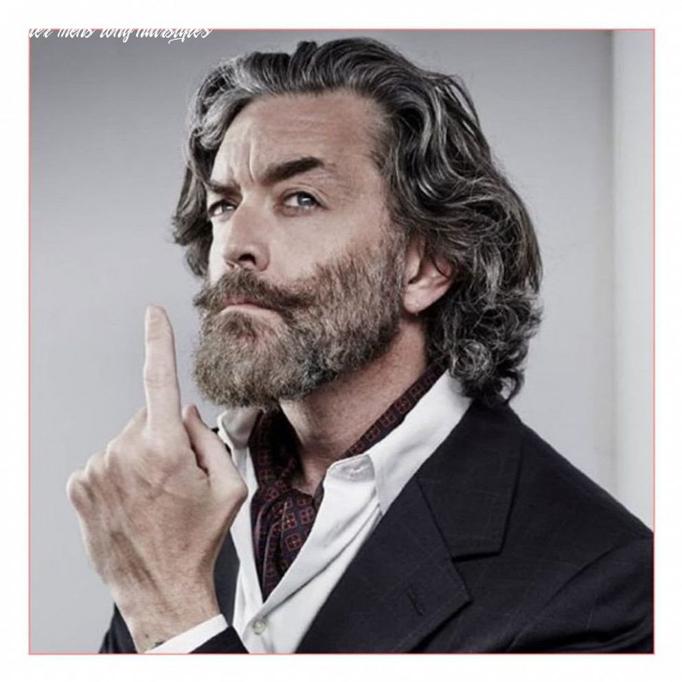 New model with long hairstyles for the older man   older mens