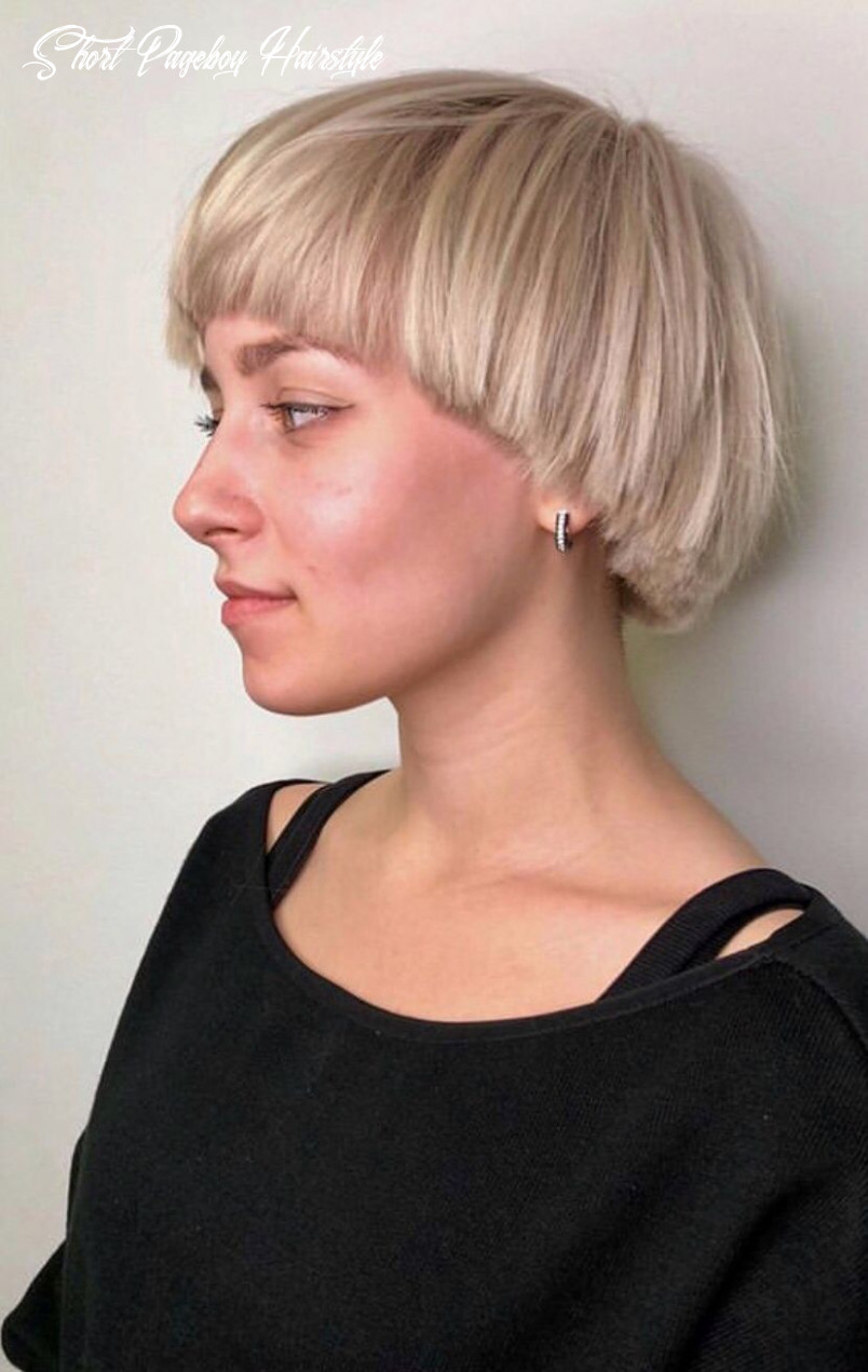 Pin on hair inspiration short pageboy hairstyle