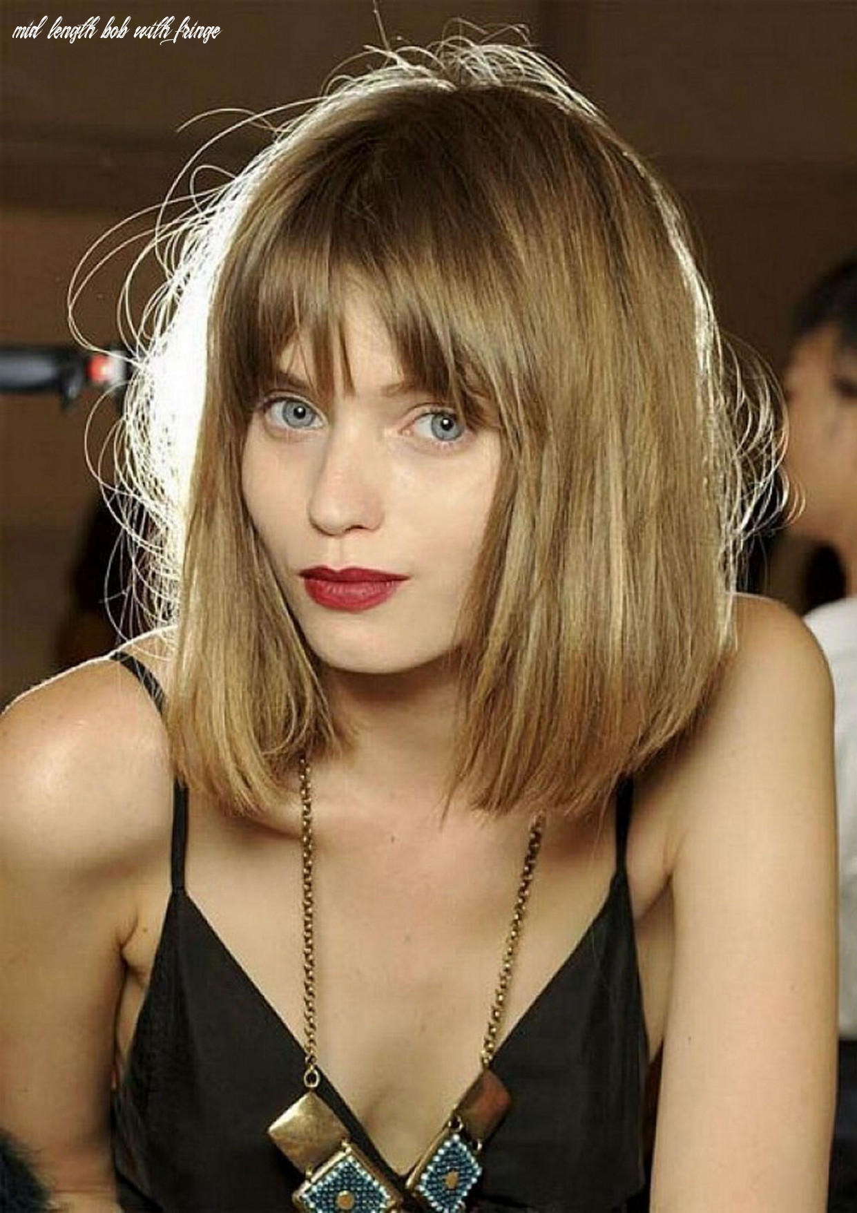 Pin on hairstyles mid length bob with fringe