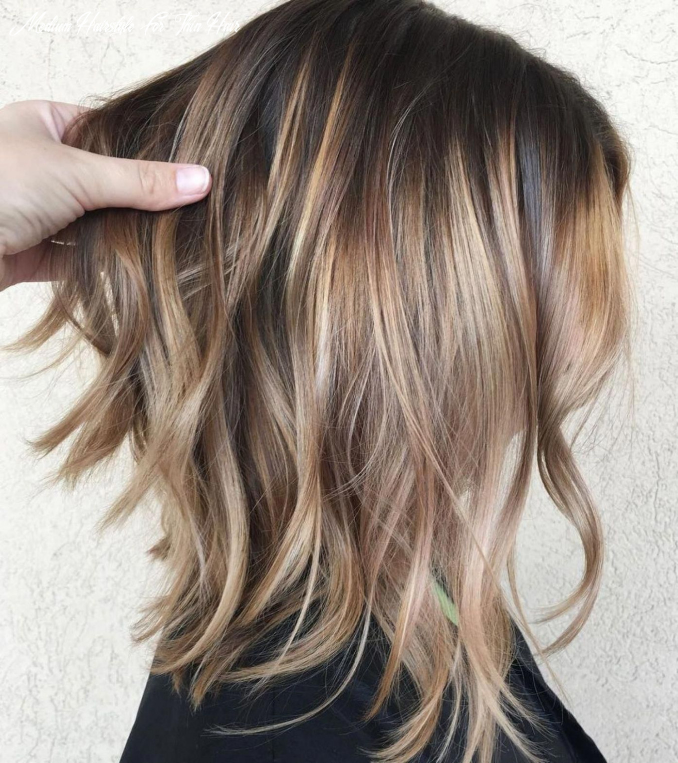 Pin on ombre highlights medium hairstyle for thin hair
