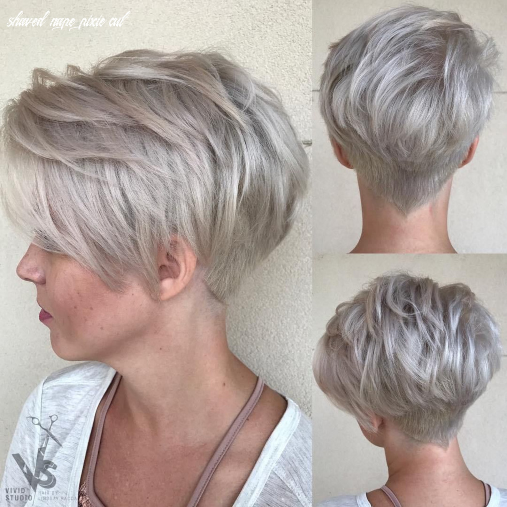 Pin on pixie cuts shaved nape pixie cut