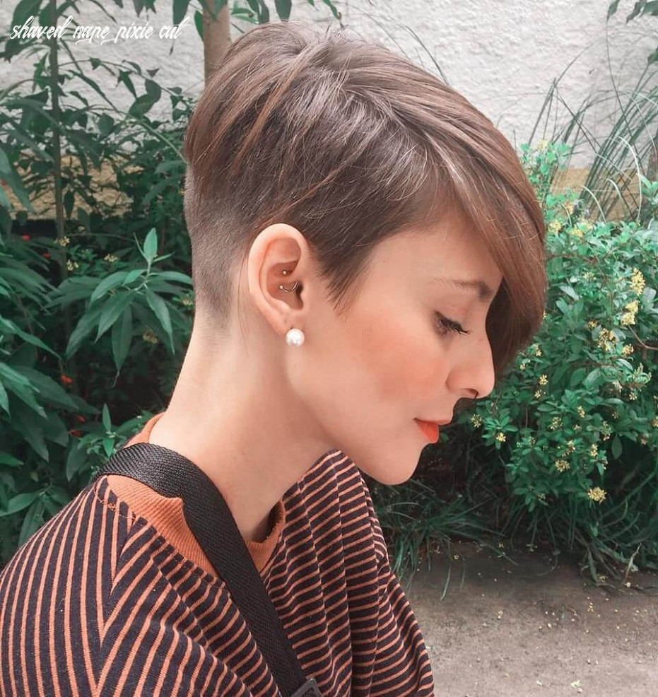 Pixie haircut with buzzed nape 11 » short haircuts models shaved nape pixie cut