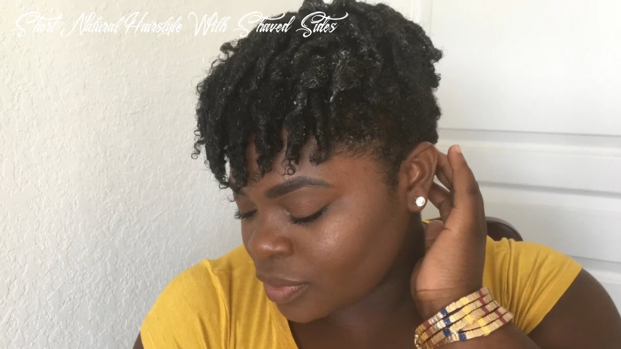 Quick how to: coils on short natural hair w/ shaved sides short natural hairstyle with shaved sides