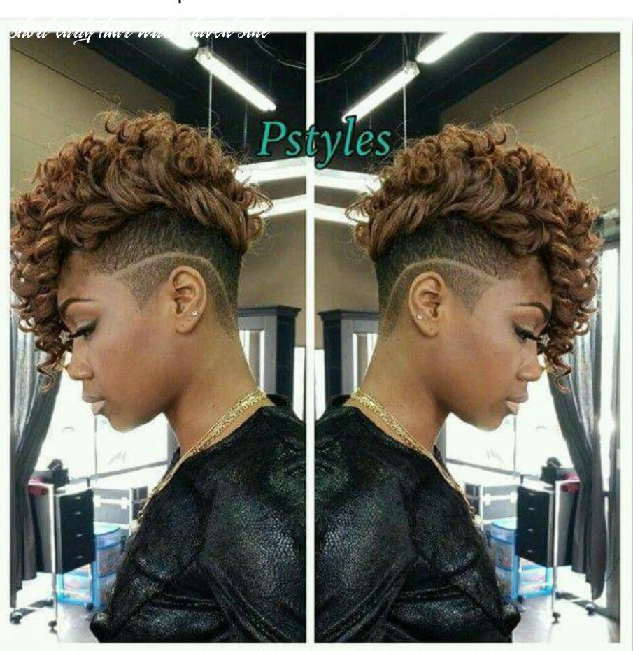 Shaved sides/flat iron   short curly weave hairstyles, natural