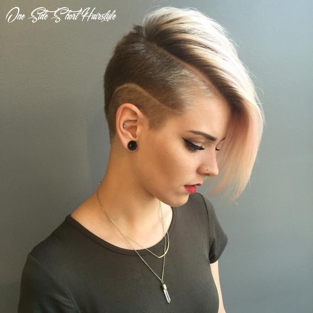 Short listed coolest shaved hairstyles for women one side short hairstyle
