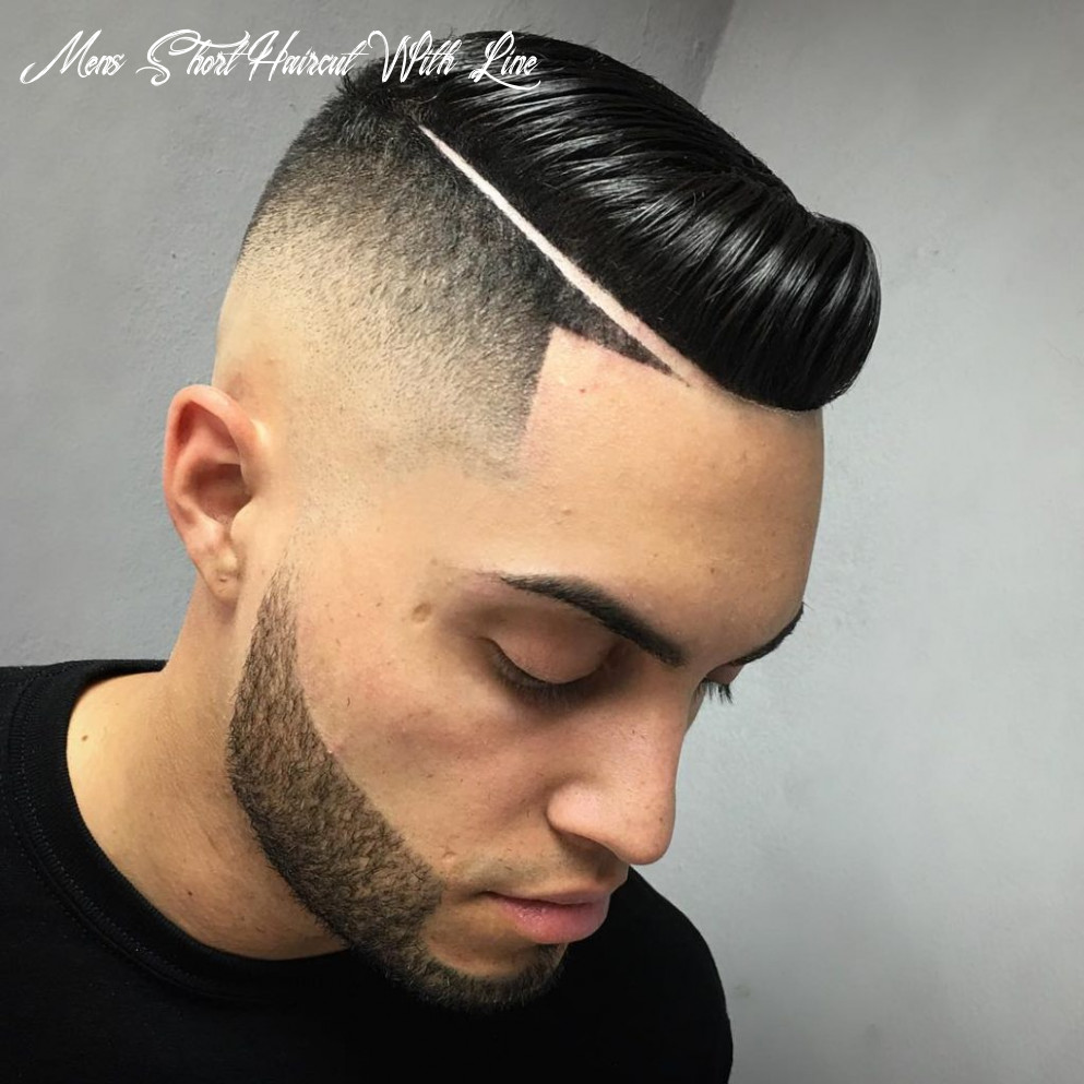 Short mens haircut with line mens short haircut with line