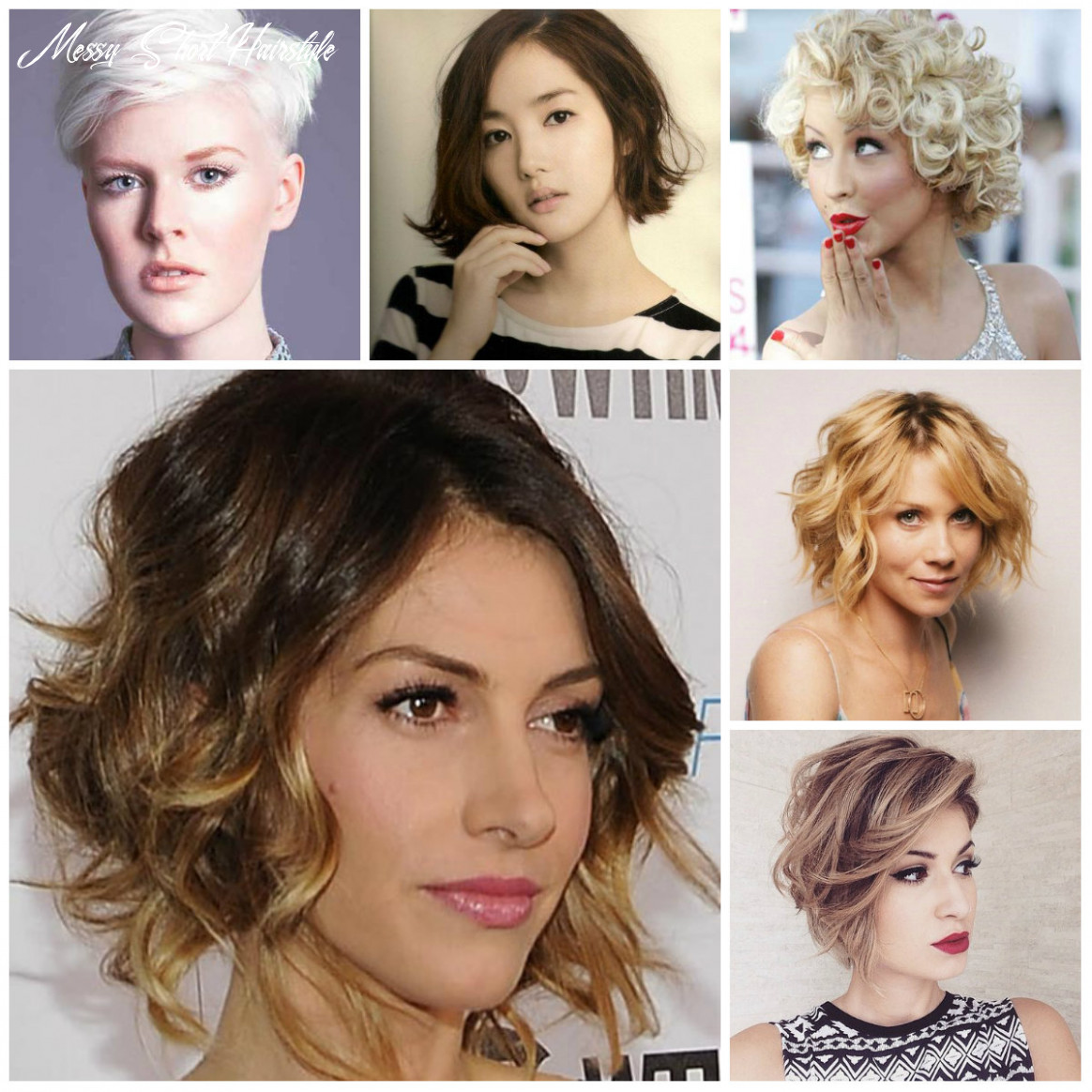 Short messy hairstyle inspiration for 11   11 haircuts
