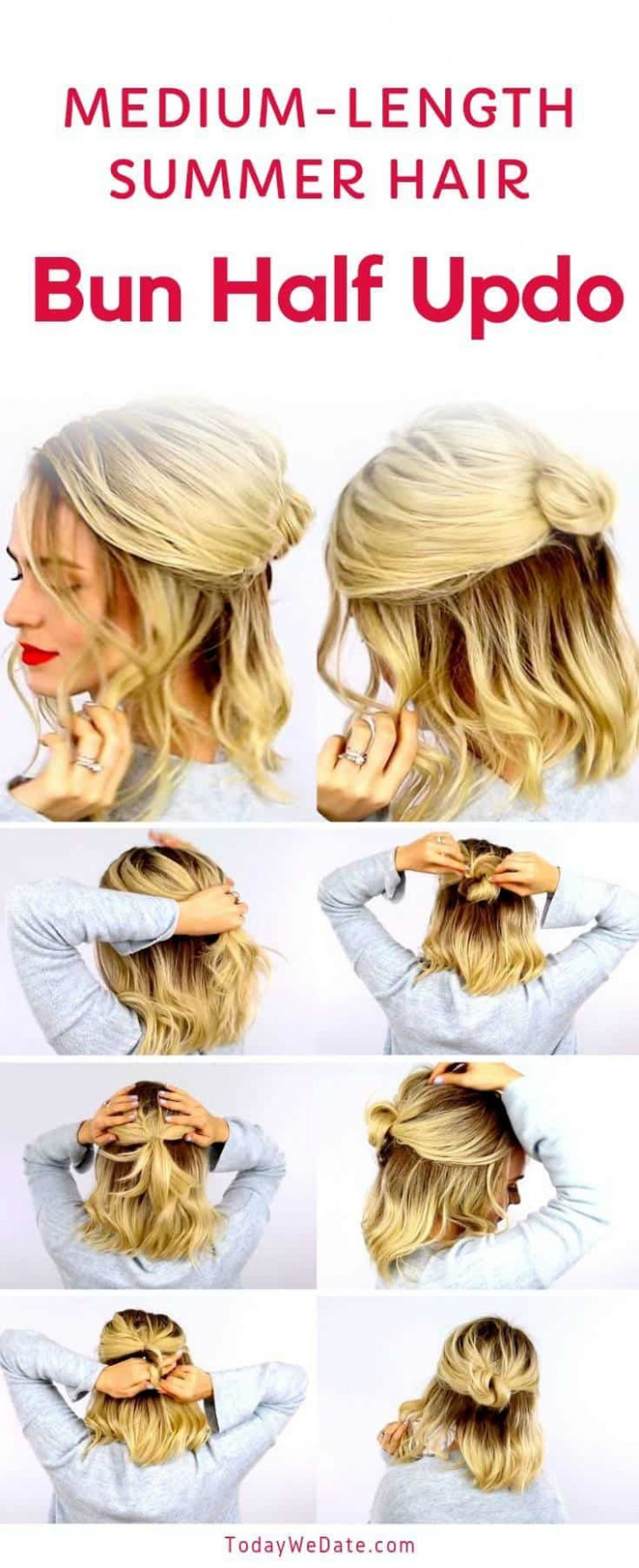 Summer hairstyles half up 8 everyday half up hairstyles   easy