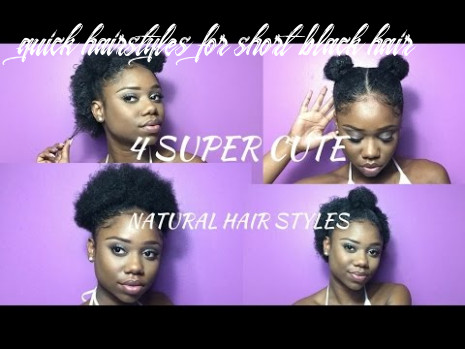 Super cute hairstyles for short natural hair ! | half up, space