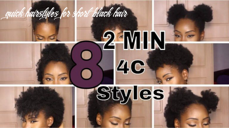 Super quick hairstyles on short 8c hair top | natural hair styles