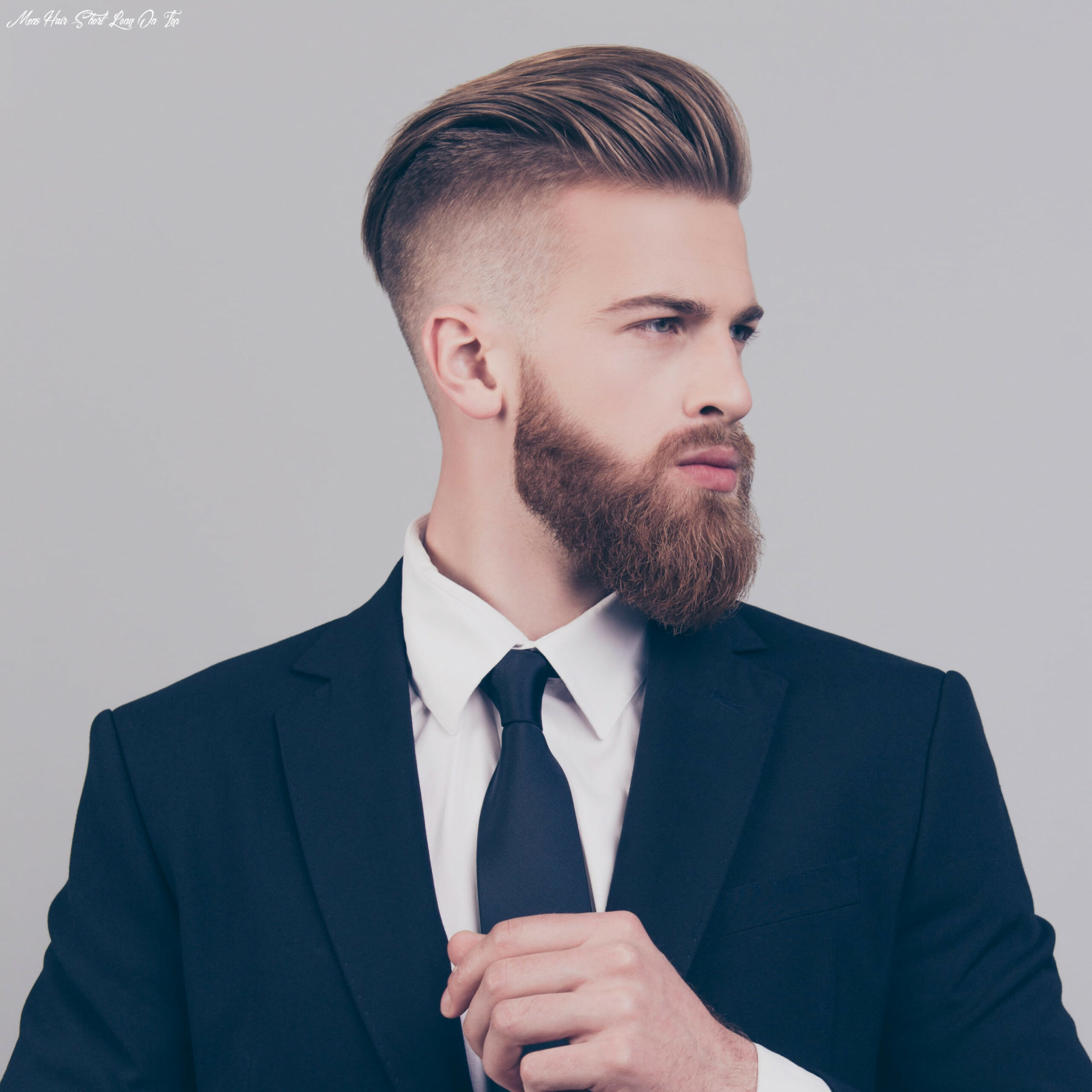 The best of both worlds: short sides & long top | haircut inspiration mens hair short long on top